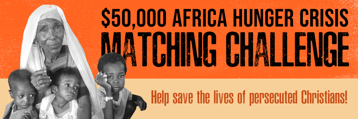 $50,000 AFRICA HUNGER CRISIS MATCHING CHALLENGE