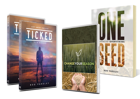 One Seed Changed Everything book, Ticked: Just Angry Enough to be Blessed on CD, DVD and digital download, 6-disc series Change Your Season