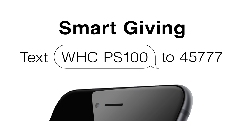 Smart Giving – Text WHC PS100 to 45777